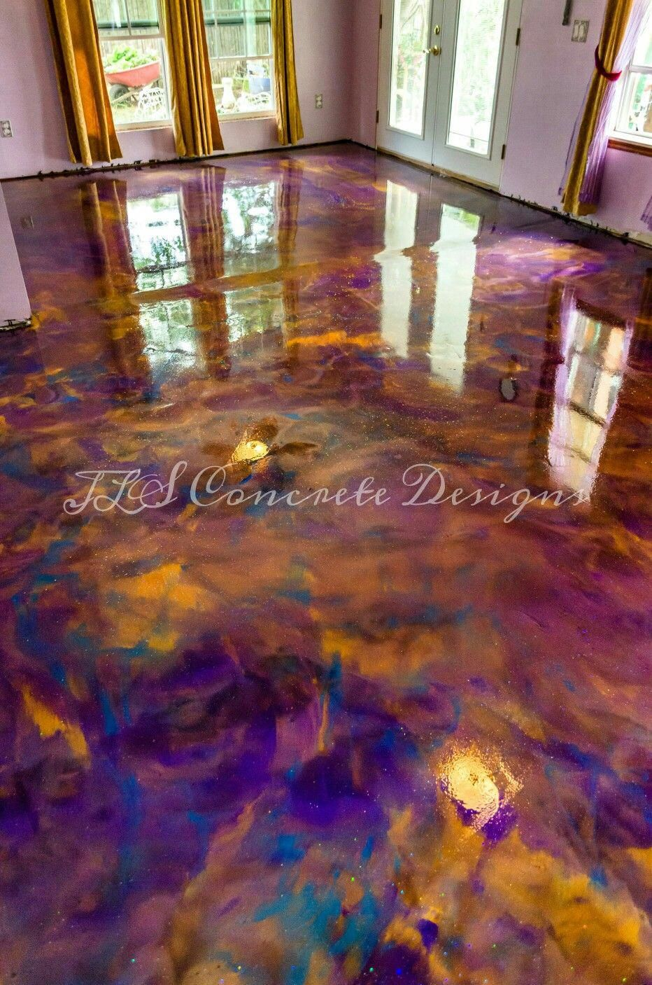 Epoxy floor installed by JLS Concrete Designs in Oklahoma