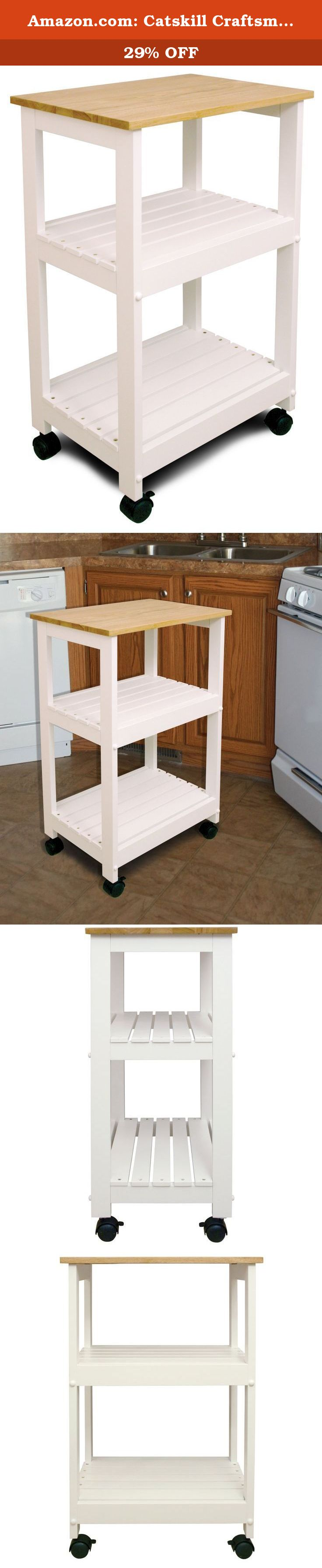 Amazon.com: Catskill Craftsmen Utility Kitchen Cart/Microwave Stand ...
