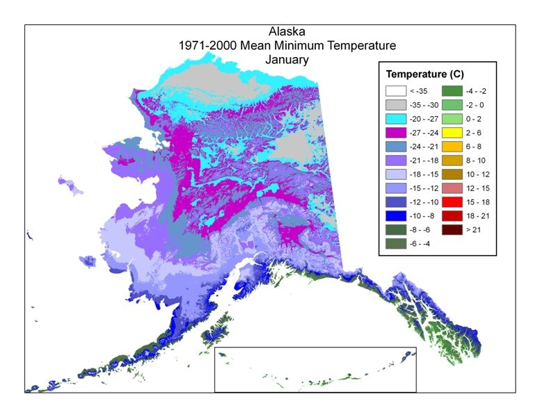Alaska Temperature Map Temperature warming up in Alaska. | Climate fixed by youth