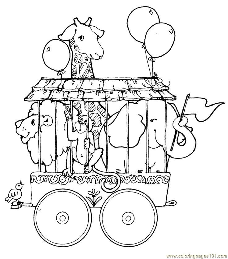 - Vintage Coloring Book Illustrations Circus Train Animals- Coloring Page  Circus Theme Lion Coloring Pages, Train Coloring Pages, Vintage Coloring  Books