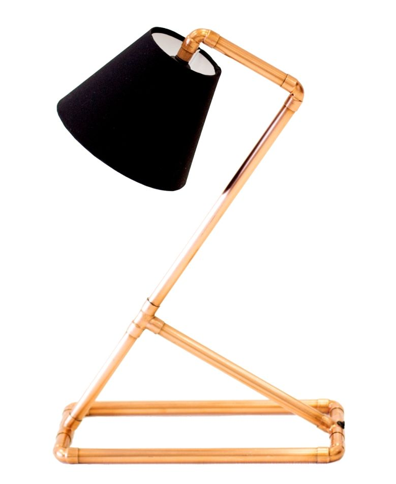 Copper Bedside Lamp Simple And Elegant Looks So Cool On Wood