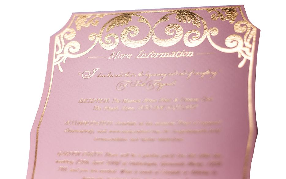 Gold Foil Information Card luxuryinvitations