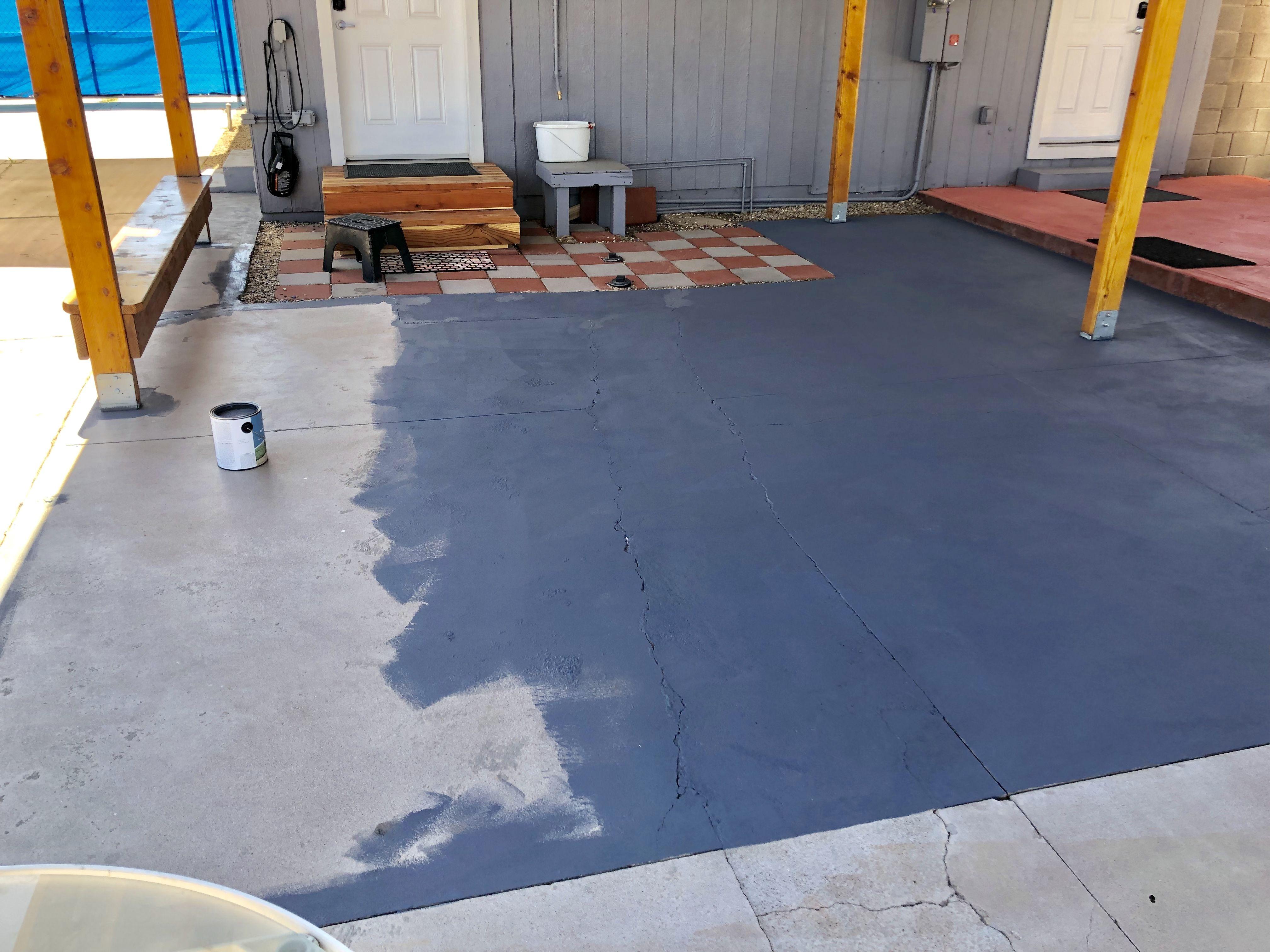 Using A Valspar Patio And Deck Paint Over Concrete Sealer