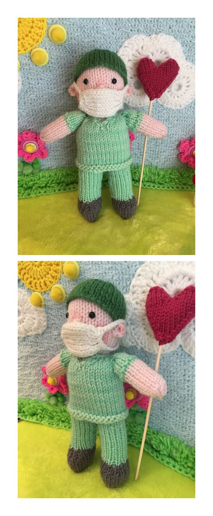 Doctor Dolly Free Knitting Pattern  #doctor #dolly #knitting #dolls #freepatterns #knit #toys #knittingpatterns #freeknittingpatterns