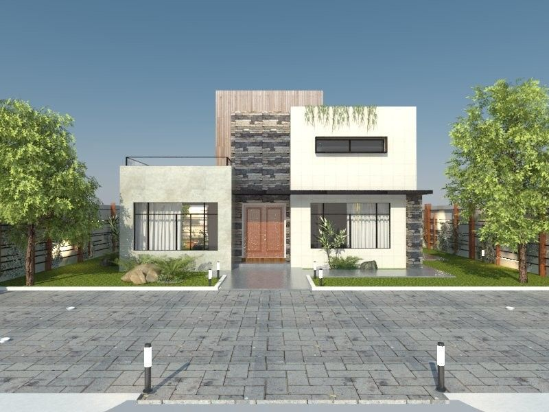 Contest Entry #8 for Redesign my house and render with a modern ...