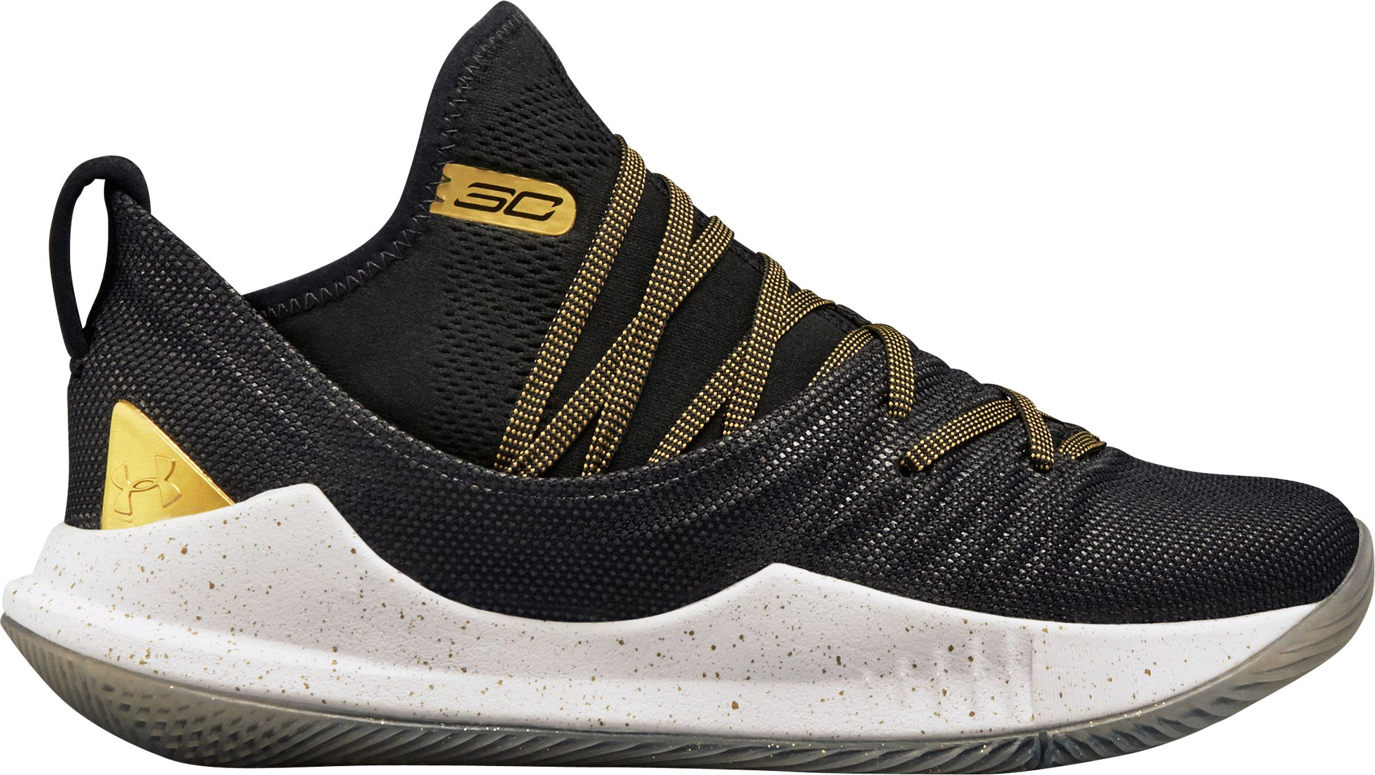 sports shoes d5767 dc9c2 Under Armour Kids  Grade School Curry 5 Basketball Shoes, Boy s, Size  4.5,  Black
