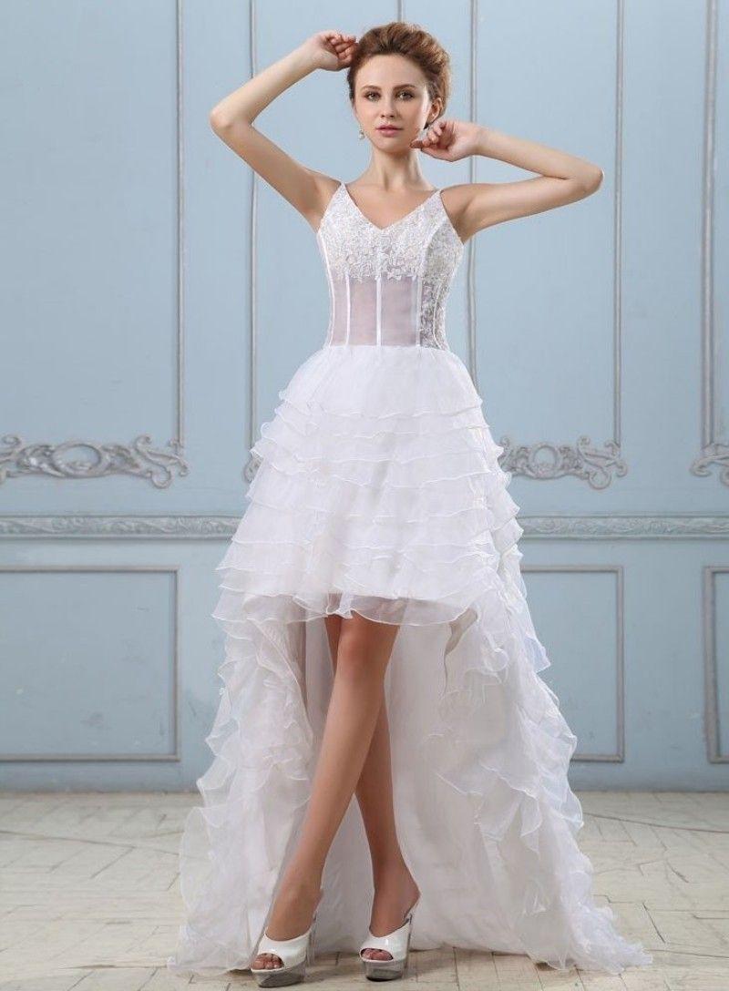 Click to Buy << Hot Selling Wedding Dress Short Vintage Hi-Lo ...