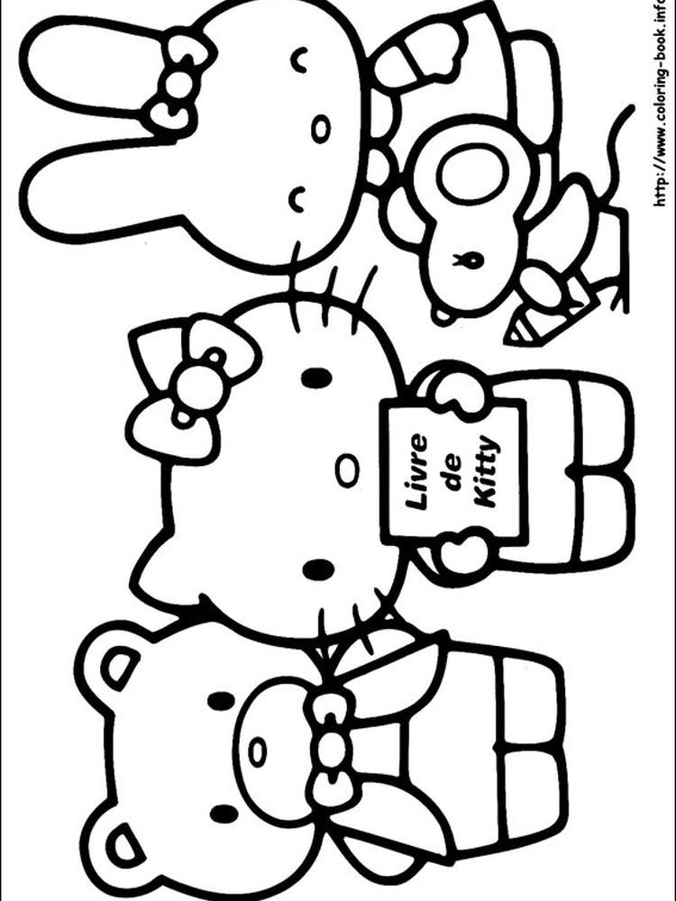 Hello Kitty Coloring Pages Chef When We First Heard Hello Kitty The First One That Occurred In Our Minds Was A Cute Cat Ch Buku Mewarnai Sketsa Gambar Simpel