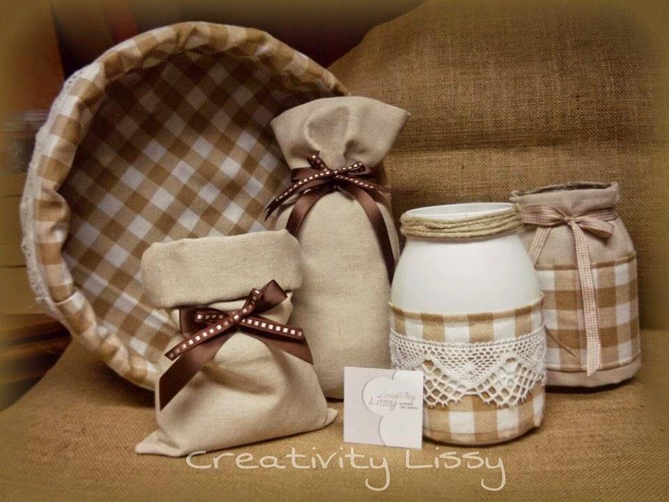 Creativity Lissy: Cestini, barattoli e sacchetti per riso, pasta e pane