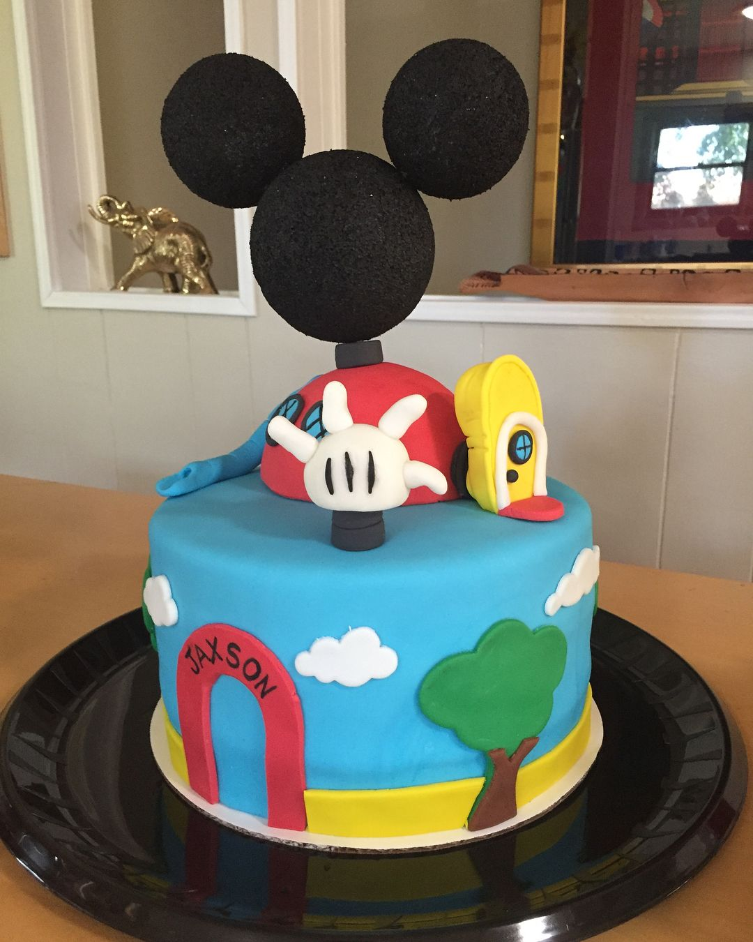 Custom mickey mouse clubhouse cake and cupcakes for a