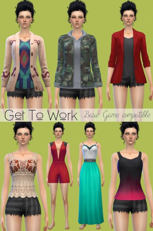 Jenni Sims Clothes And Shoes  E  A Downloads