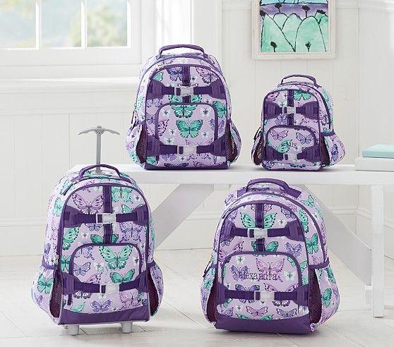 Mackenzie Lavender Pretty Butterfly Backpack Pottery