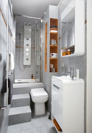 Siempre que se dispone de espacios peque os se puede for Distribucion cuarto de bano pequeno