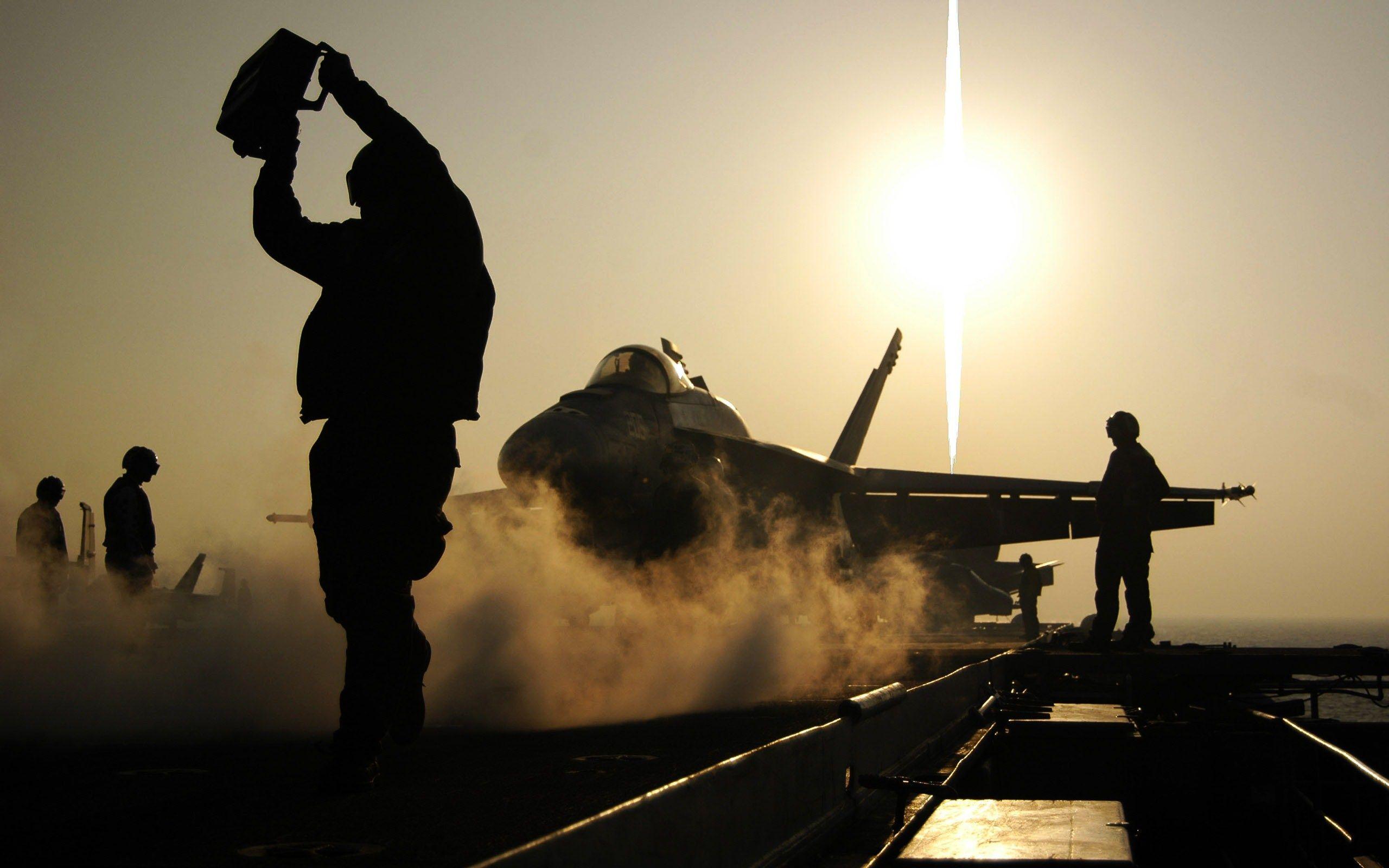 aircraft carrier takeoff hands on deck wide hd wallpaper