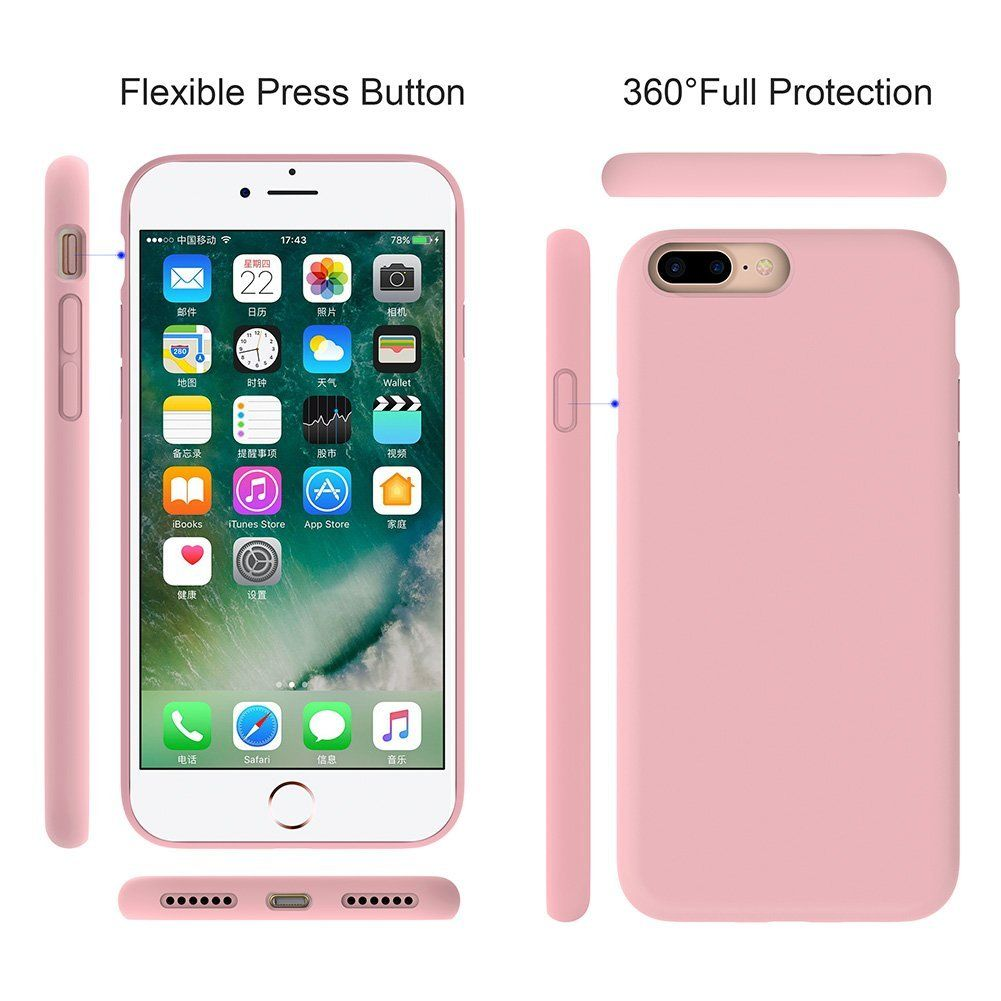 best loved 8f780 1febc Amazon.com: Miracase iPhone 8 Plus Silicone Case, iPhone 7 Plus ...