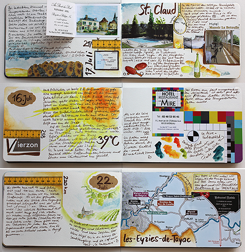 mein letztes reisetagebuch mit aquarellfarben washi tape und aufklebern zeige ich in meinem. Black Bedroom Furniture Sets. Home Design Ideas