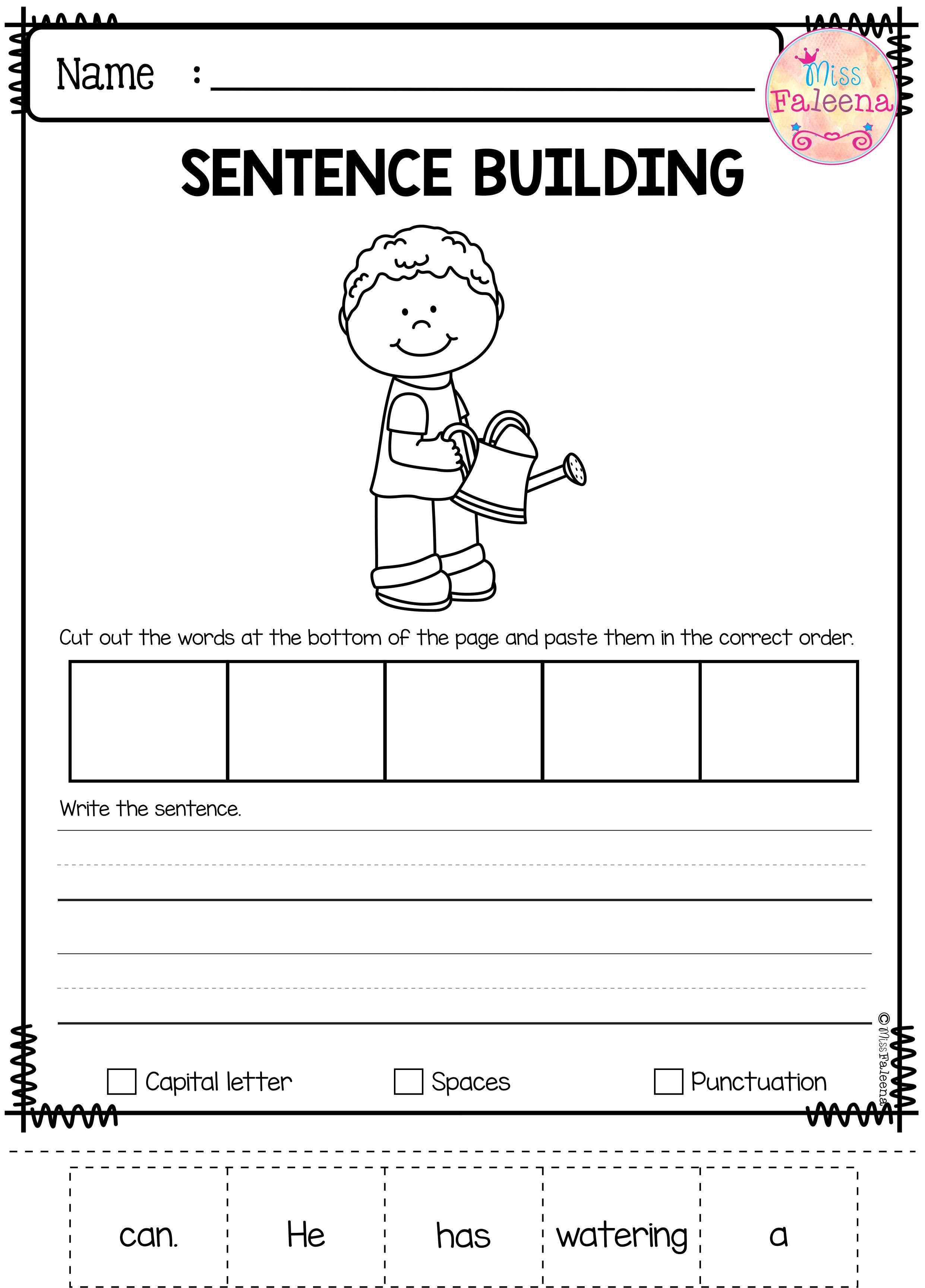 May Sentence Building Has 30 Pages Of Sentence Building Worksheets This Pr Kindergarten Writing Lesson Plans Kindergarten Writing Lessons Kindergarten Writing [ 3456 x 2482 Pixel ]