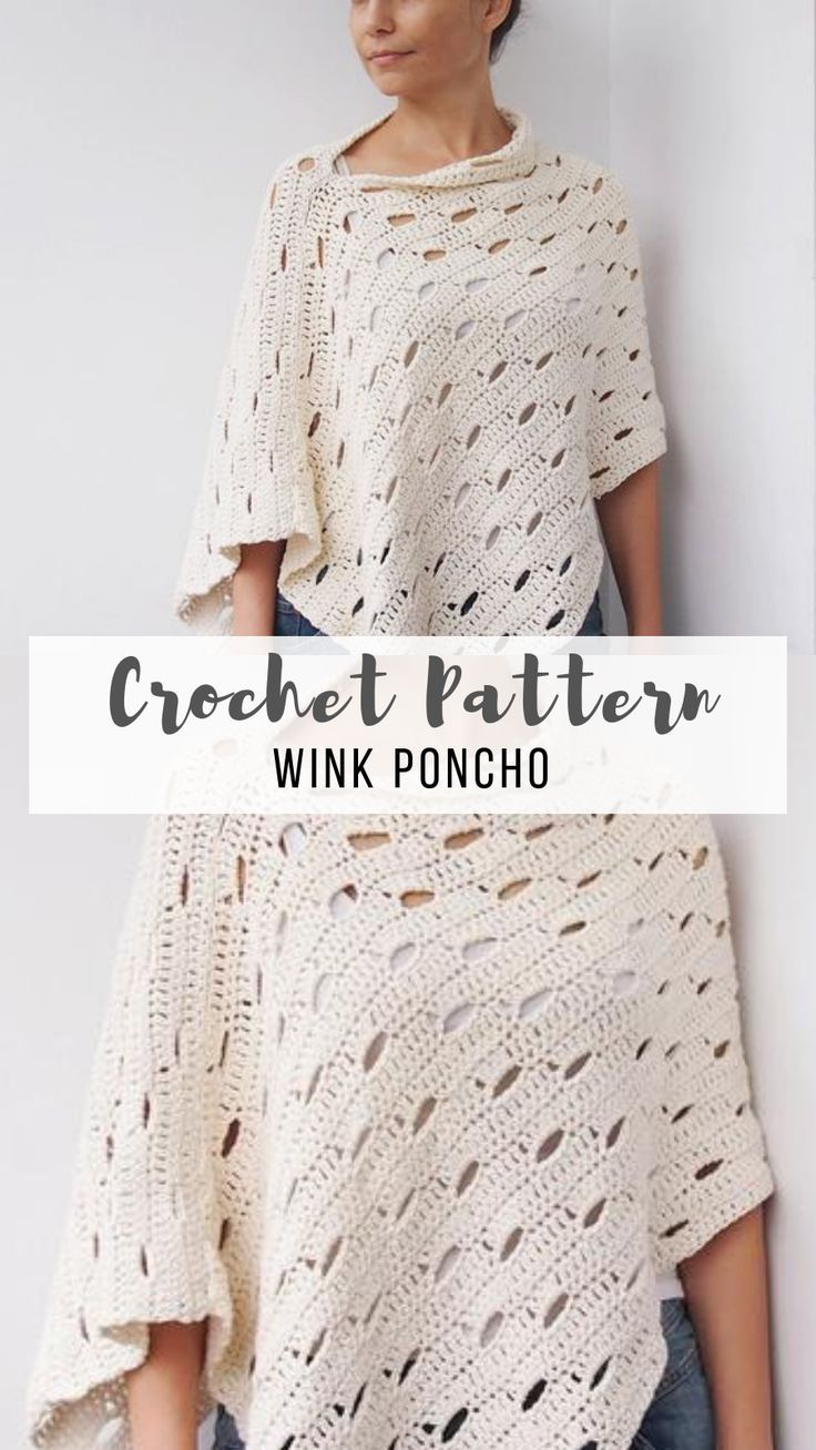 My Favorite Crochet Poncho Pattern #kleidunghäkeln