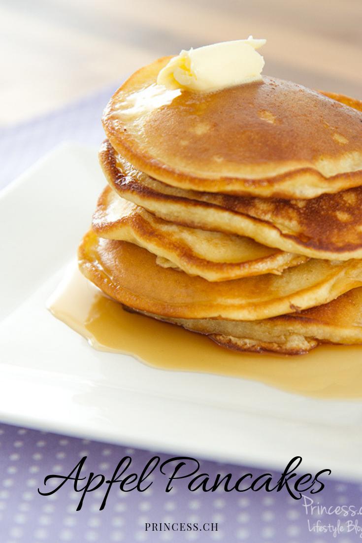 Einfaches Apfel Pancakes Rezept   Koken   Rezepte, Lecker ...