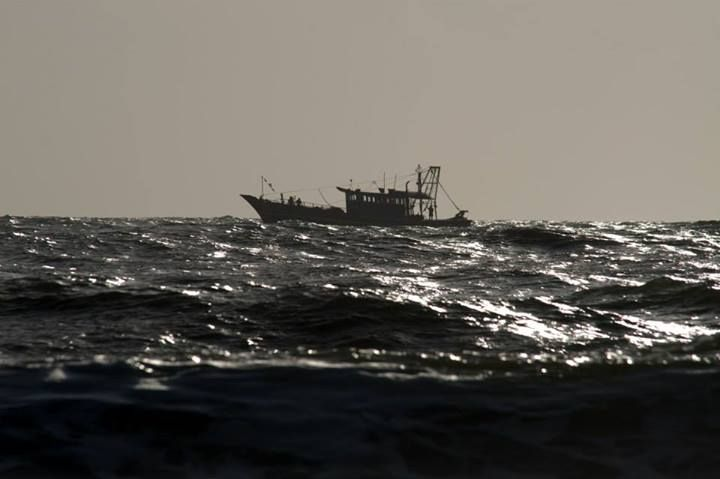 A fishing boat at Azhikode, Arabian Sea.