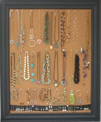maybe a long thin bulletin or wine cork board next to the dresser organization jewelry. Black Bedroom Furniture Sets. Home Design Ideas
