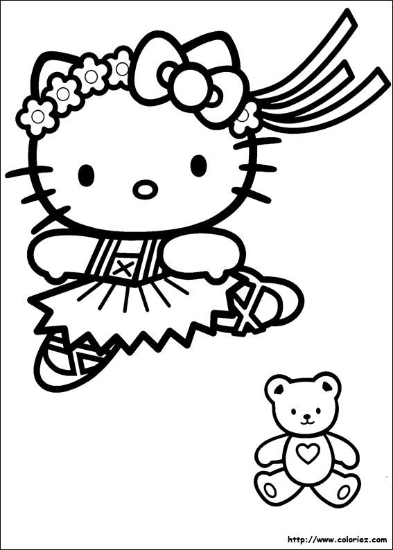 Coloriage Hello Kitty A Colorier Dessin A Imprimer Hello Kitty Coloring Alice In Wonderland Background Hello Kitty