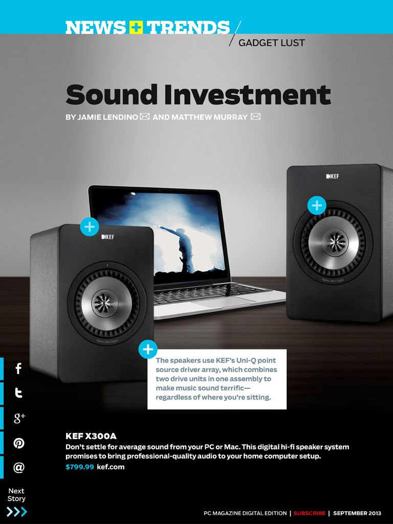 Dont Settle For Average Sound From Your Pc Or Mac The Kef X300a Is Hi Fi Speaker System A Digital That Promises To Bring Professional Quality Audio Home