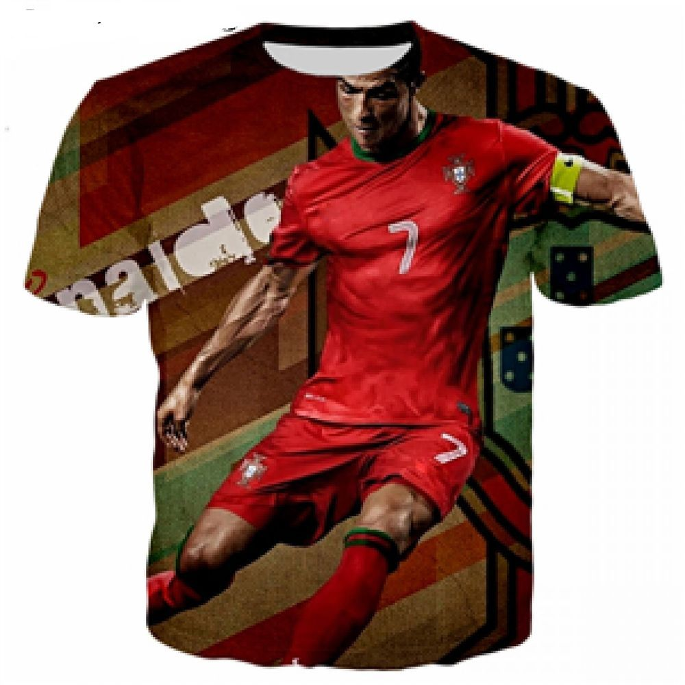 pretty nice cb670 d2456 Cristiano Ronaldo Shirt 3D Printed Design Casual Tops Summer ...