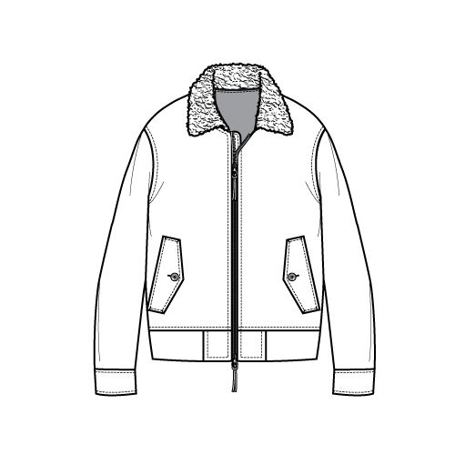 how to draw a collar jacket