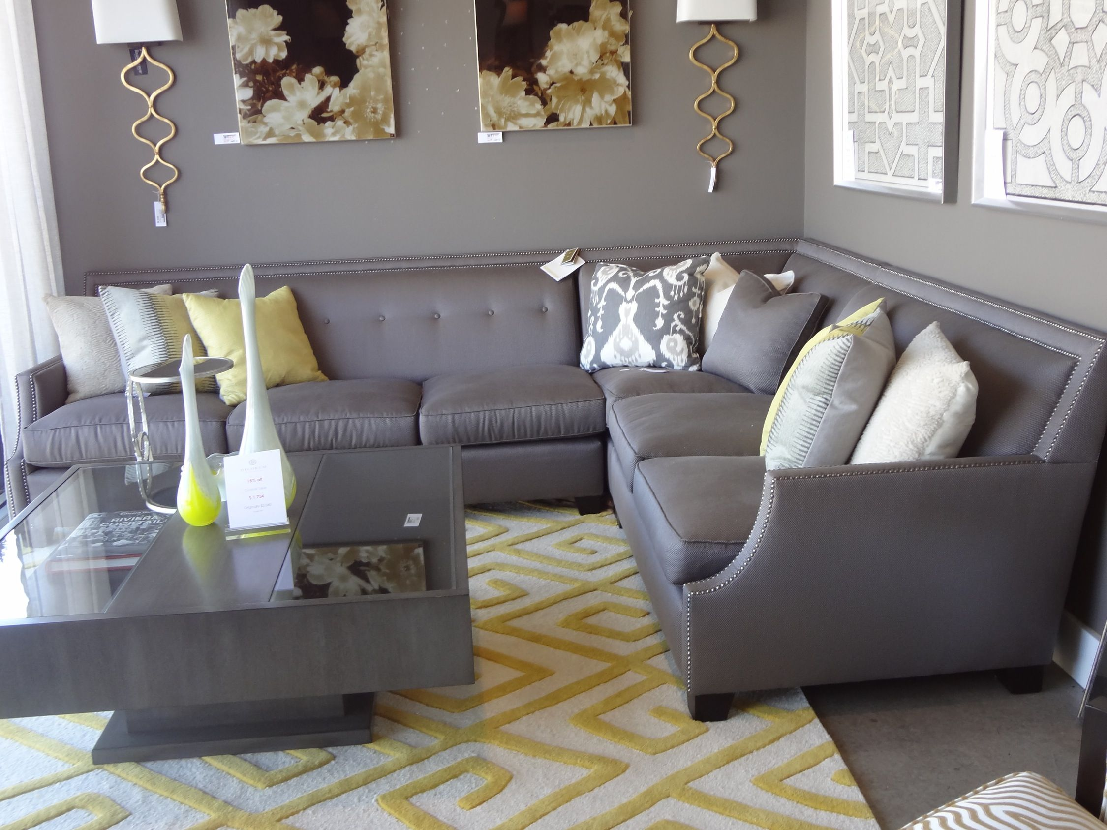 Franco Sectional For Family Media Room Basement Sofa