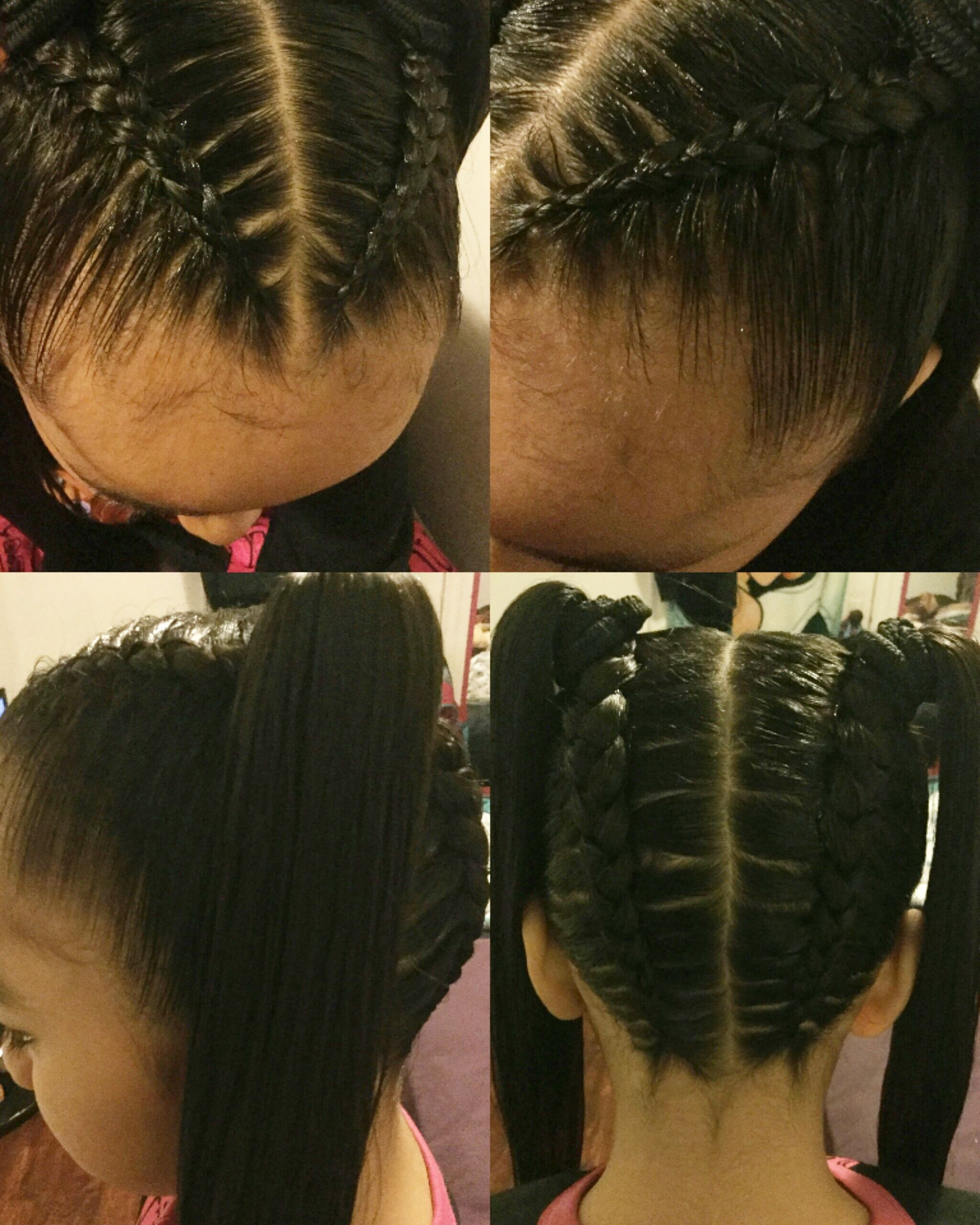 braids into two ponytails | hair in 2019 | braids, two
