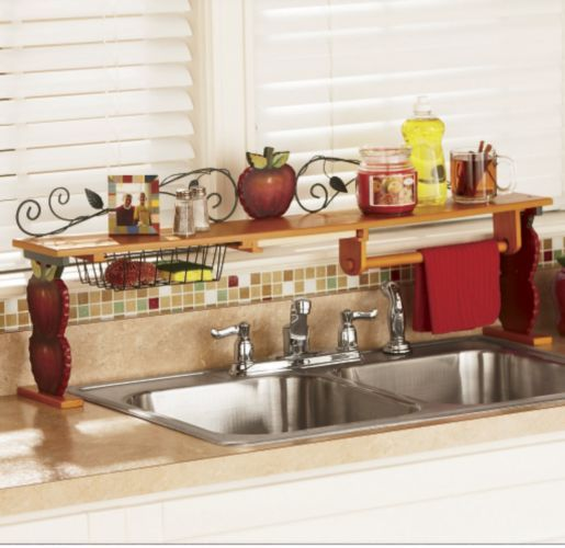 Kitchen Shelf Decor Ideas: Scroll Apple Over-the-Sink Shelf- Don't Like The Apple