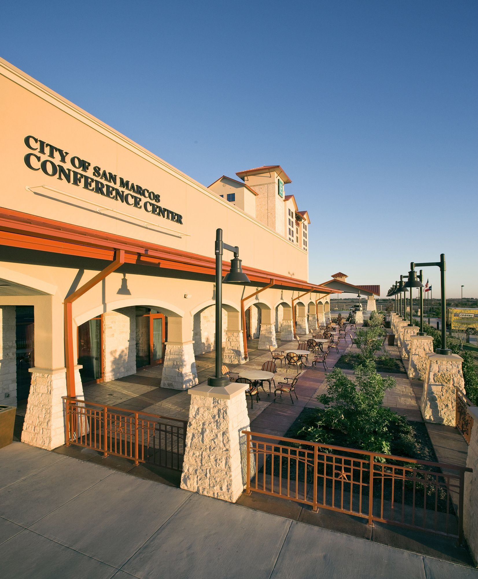 Embassy Suites Conference Center Exterior San Marcos Texas Design Hood Rich Architecture Hospitality Projects Outdoor Decor Embassy Suites