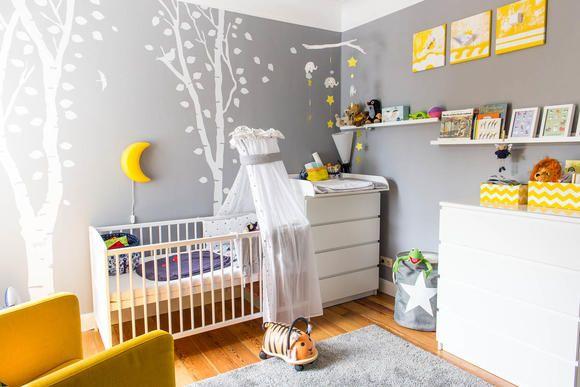 Babyzimmer Einrichtung in Gelb, Grau und Weiß in 2019 | Baby | Baby ...