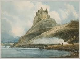 A Thomas Girtin watercolour from 1797 on the island of Lindisfarne in Northumberland