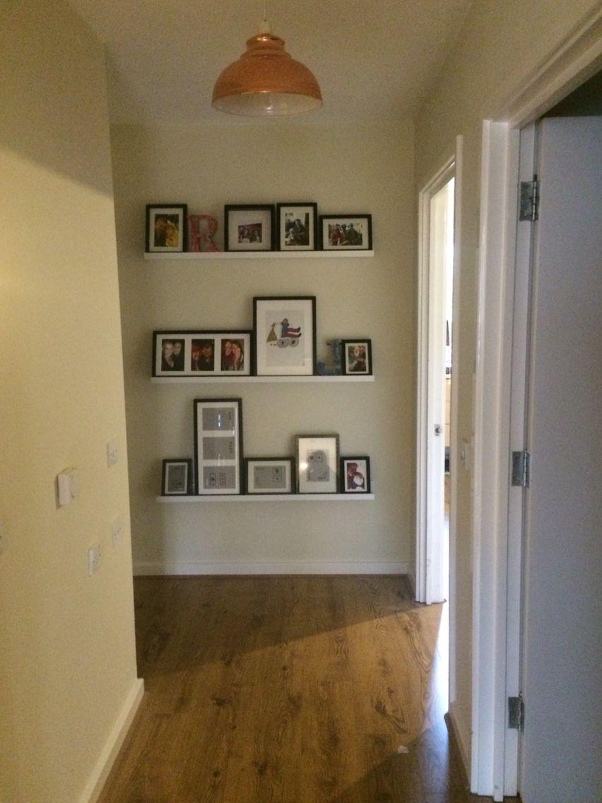 Picture Ledge Ikea Mosslanda Ribba Photo Wall Hallway Entrance