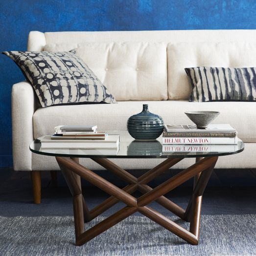 Spindle Coffee Table Coffee Table West Elm Coffee Table Modern Furniture Living Room
