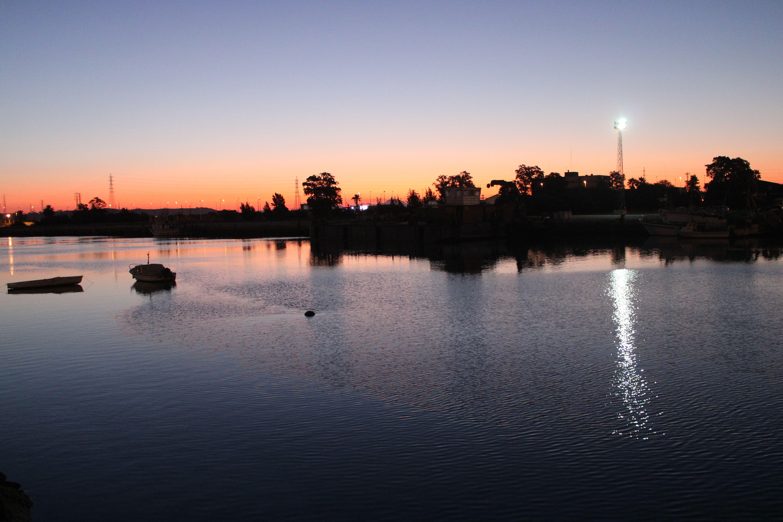 orilla del rio Guadalete al amanecer