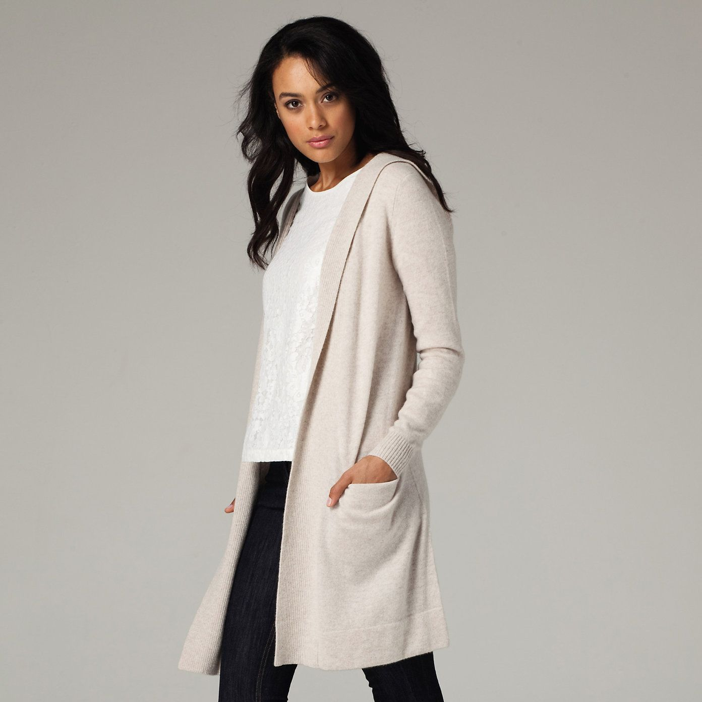 Long Hooded Cashmere Cardigan | The White Company | Gemma83 ...