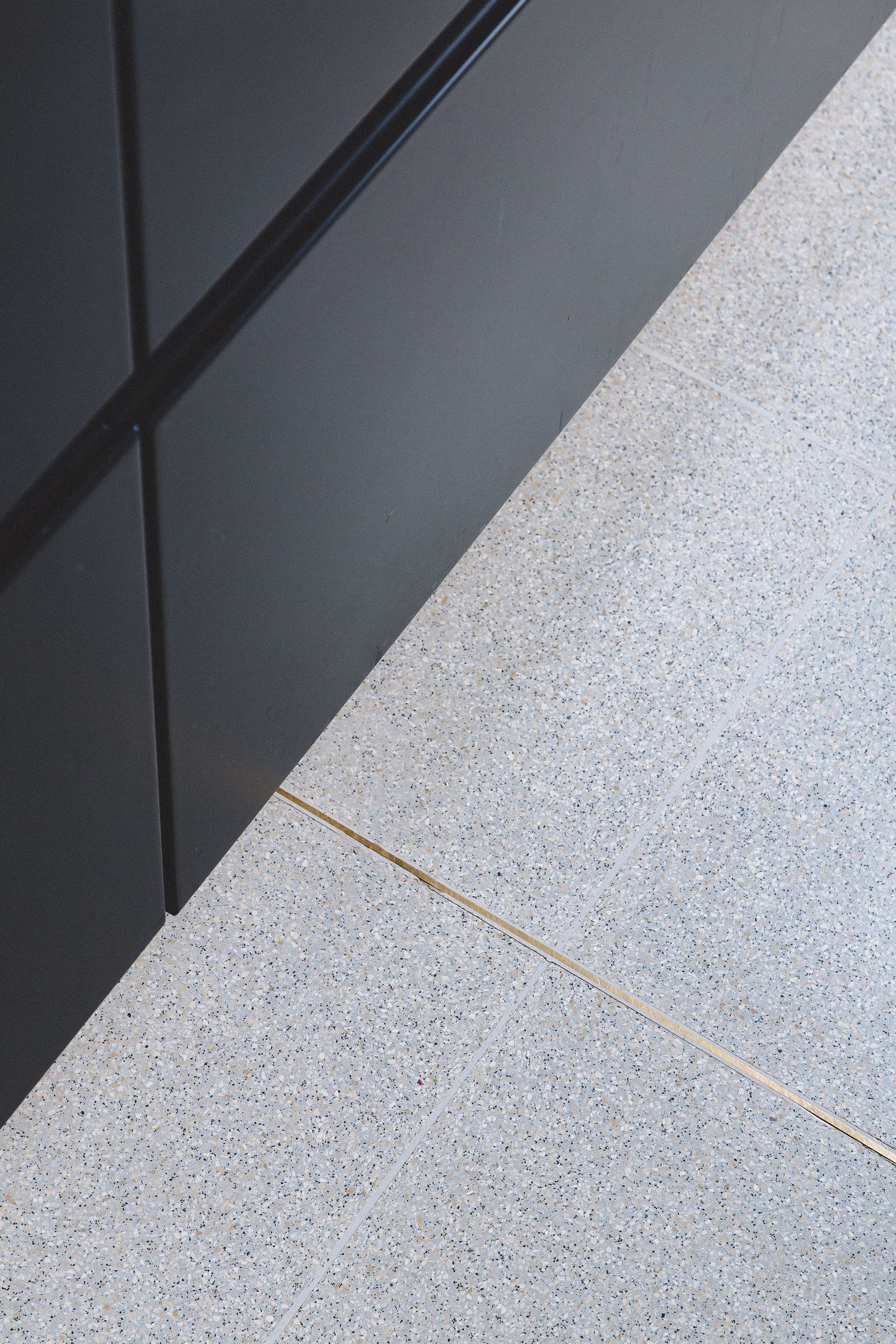 Terrazzo Floor Brass Inlay Terrazo Flooring Terrazzo