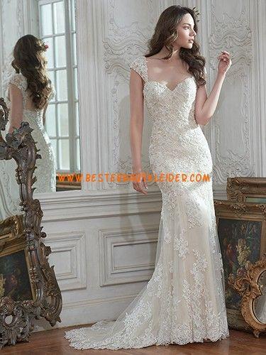 Meerjungfrau Wunderschöne Glamouröse Brautkleider aus Softnetz mit Applikation