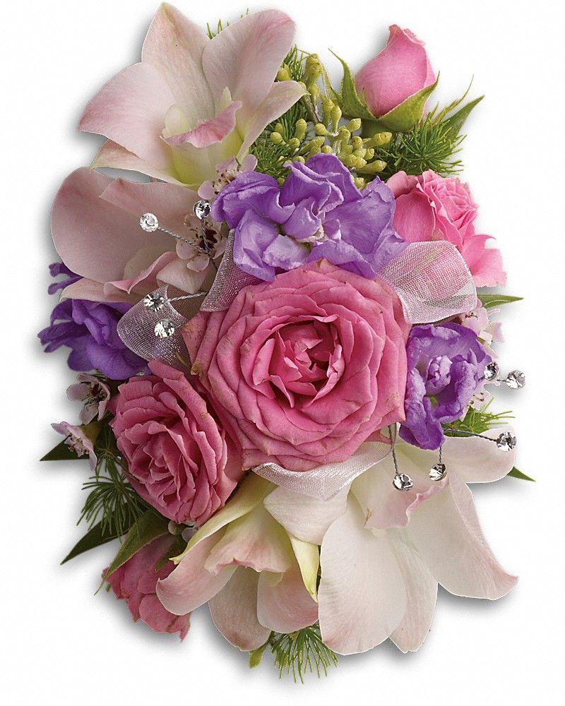 Purple Love Wristlet in 2020 Prom flowers, Corsage
