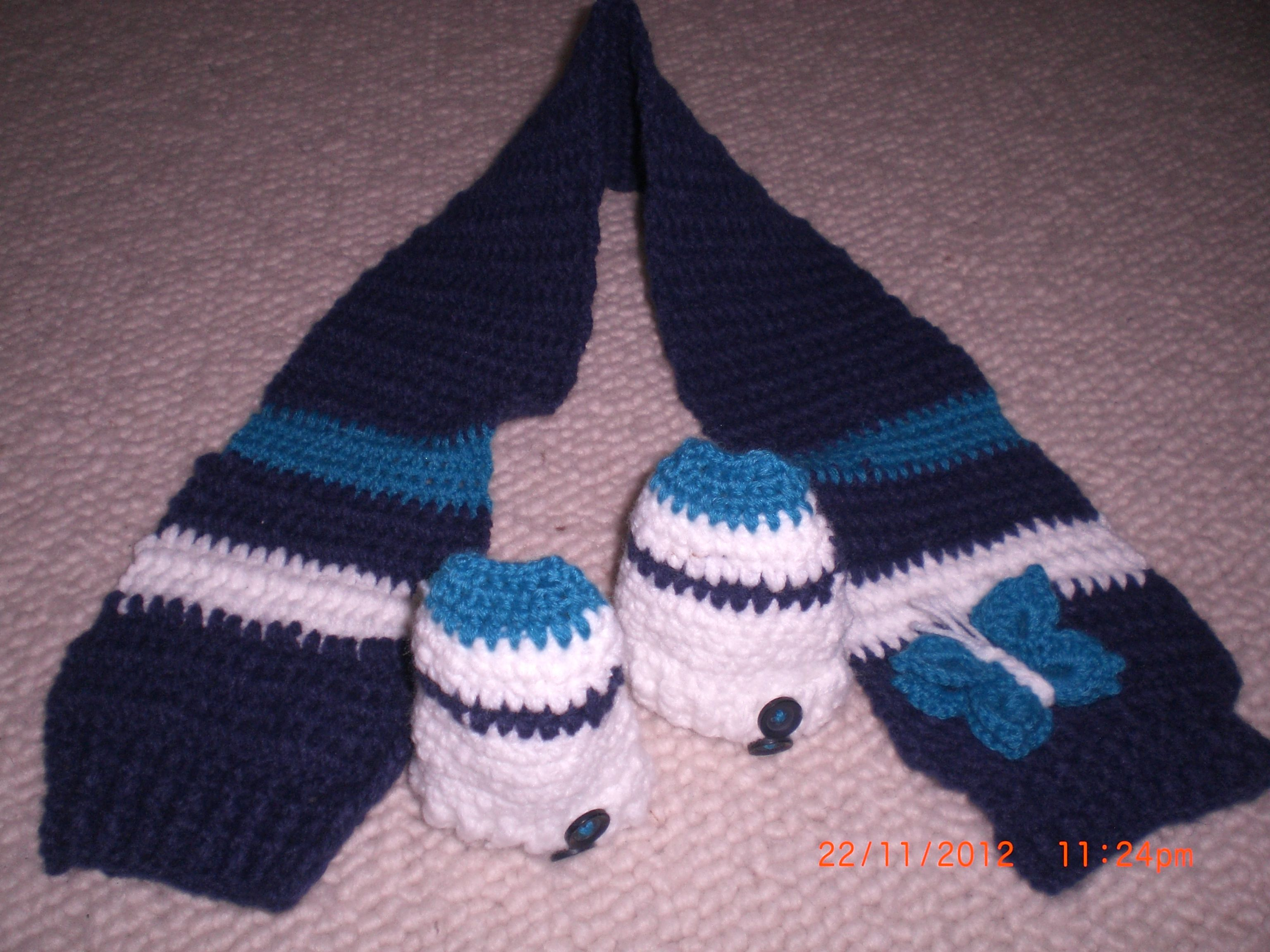 scarf and slippers