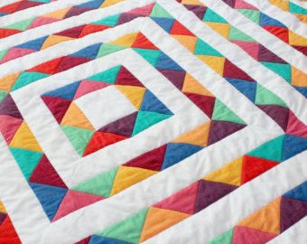 Modern Baby Quilt | Pippa Quilts on Etsy