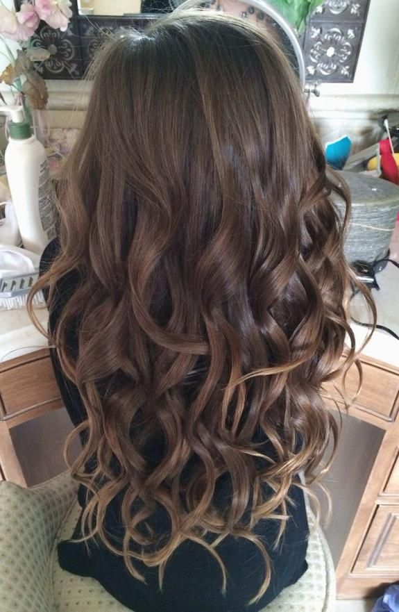 Messy Brown Wand Curls