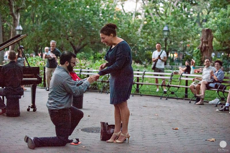 Alec Baldwin saw us get engaged.   Photo by DeNueva Photography