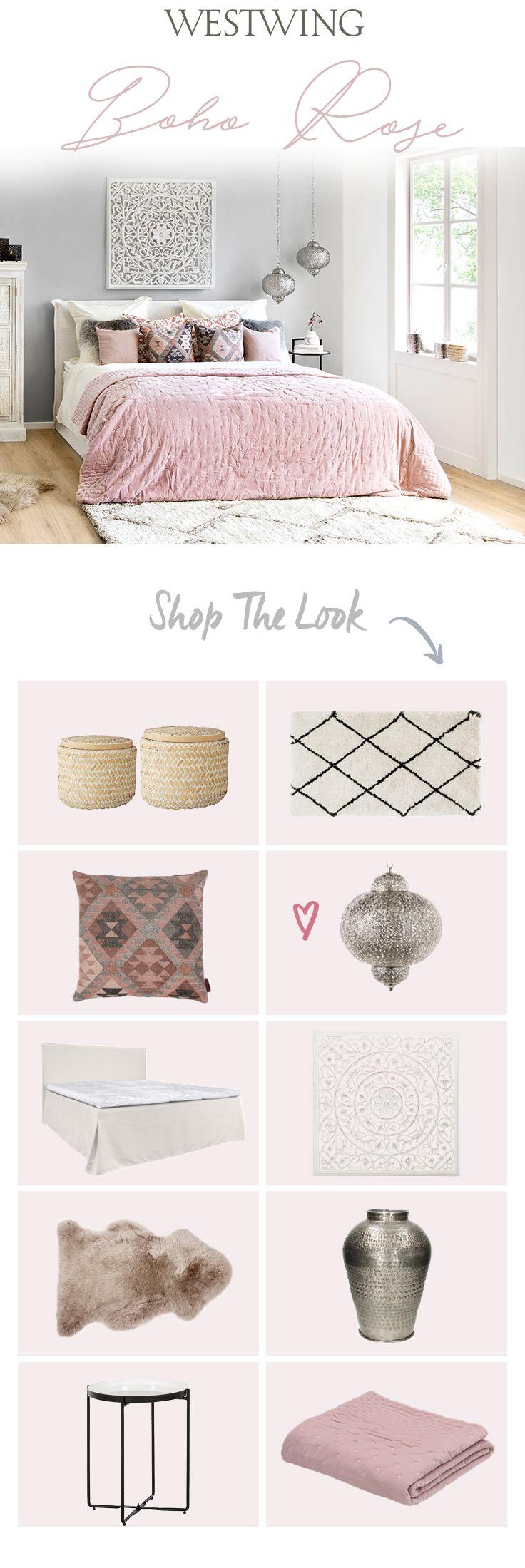 Wohndesign schlafzimmer einfach boho rose ethnoelemente und zartes rosa  love it  pinterest