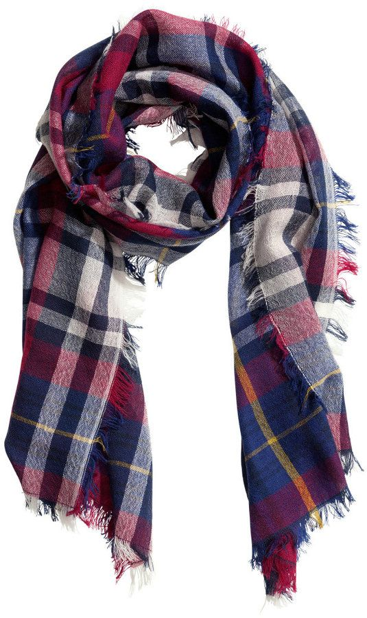 323094cc82d2d H&M Plaid Wool Scarf - Red - Ladies on shopstyle.com   accessories ...