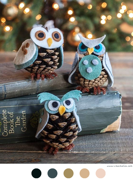 hiboux de no l hibou pinterest deco noel noel et bricolage noel. Black Bedroom Furniture Sets. Home Design Ideas