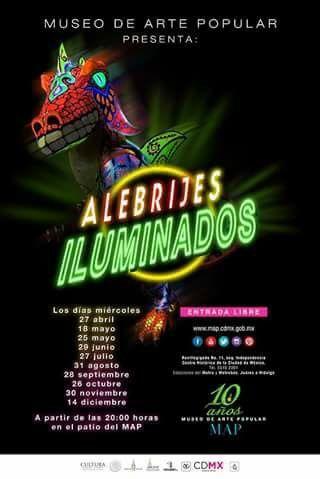 No pudiste asistir el año pasado. Aquí están de regreso los #AlebrijesIluminados @map_mexico